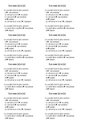 Sons [s] et [z] - Cours, Leçon - Orthographe : 2eme Primaire