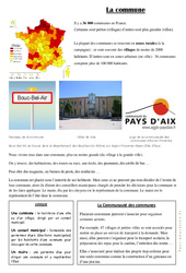 La Commune - Fiches Document, questions et correction : 3eme Primaire