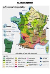 Carte de la France agricole : 3eme, 4eme, 5eme Primaire