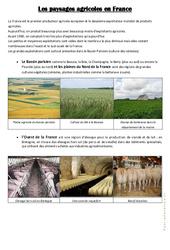 Les paysages agricoles en France - Exercices : 3eme, 4eme, 5eme Primaire