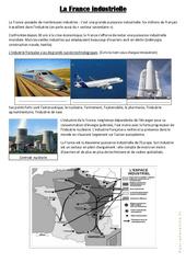 La France industrielle - Exercices : 4eme, 5eme Primaire