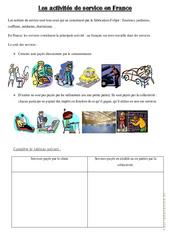 Les activités de service en France - Exercices : 4eme, 5eme Primaire