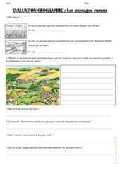Paysages ruraux - Examen Evaluation : 3eme Primaire