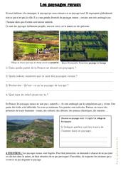 Les paysages ruraux - Exercices : 3eme Primaire