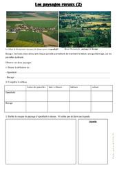 Les paysages ruraux  - Document, questions et correction : 3eme Primaire