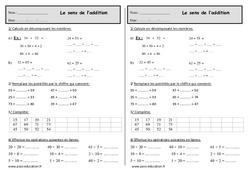 Le sens de l'addition - Exercices à imprimer : 2eme Primaire