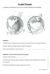 Le globe Terrestre - Exercices : 3eme Primaire