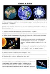 Le visage de la Terre - Exercices : 3eme Primaire
