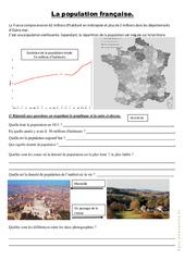 La population française  - Exercices : 4eme, 5eme Primaire
