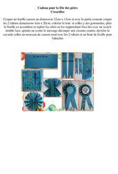 Cadeau pour la fête des pères - Arts plastiques : 3eme, 4eme, 5eme Primaire