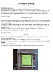 Un cadre flottant  en bambou - Fête des pères - arts plastique : 3eme, 4eme, 5eme Primaire