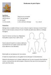 Bonhomme de pain d'épices - Fête des pères - Arts plastiques : 2eme, 3eme, 4eme, 5eme Primaire