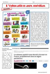 Education aux médias - Exercices : 4eme, 5eme Primaire