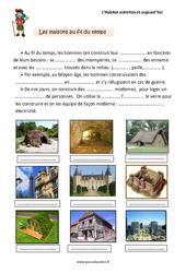 Habitat - Autrefois et aujourd'hui - Cours, Leçon : 2eme Primaire