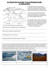 Le milieu froid - Exercices la zone climatique froide : 4eme, 5eme Primaire
