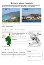 Comprendre la densité de population - Géographie  : 4eme, 5eme Primaire