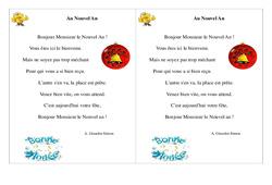 Au Nouvel An - Poésie, poème - Nouvel an : 2eme Primaire