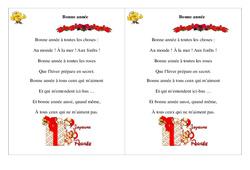 Bonne année - Poésie, poème - Nouvel an : 2eme Primaire
