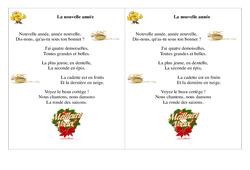 La nouvelle année - Poésie, poème - Nouvel an : 2eme Primaire