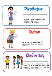 Etiquettes métiers de la classe - Trucs et astuces de classes - Outils pour la classe : 2eme, 3eme, 4eme, 5eme Primaire