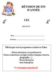 Français - Révisions fin d'année - Examen Evaluation  : 2eme Primaire