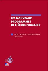 Nouveaux programmes de l'école primaire - B.O - Bulletin officiel : Primaire - Cycle Fondamental
