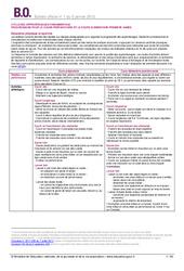 Programmes école primaire - B.O - Bulletin officiel : Primaire - Cycle Fondamental