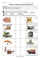 Alimentation - Autrefois et aujourd'hui - Examen Evaluation : 2eme Primaire