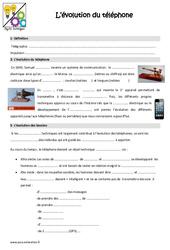 Evolution du téléphone - Cours, Leçon : 4eme, 5eme Primaire