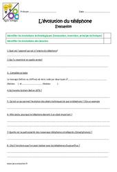 Evolution du téléphone - Examen Evaluation : 4eme, 5eme Primaire
