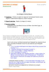 Dangers domestiques - Fiche de préparation : 2eme, 3eme Maternelle - Cycle Fondamental