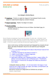 Objets dangereux - Fiche de préparation : 3eme Maternelle - Cycle Fondamental