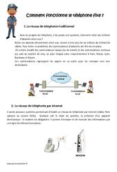 Comment fonctionne le téléphone fixe - Exercices : 4eme, 5eme Primaire