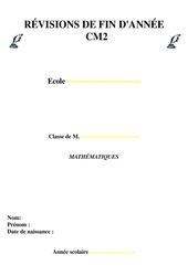 Révisions fin d'année - Mathématiques : 5eme Primaire