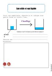 Eau solide - Eau liquide - Exercices - La matière - Sciences : 2eme Primaire