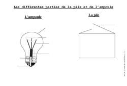Pile - Ampoule - Exercices - La matière - Sciences : 2eme Primaire