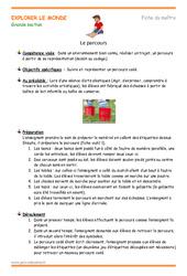 Parcours - Fiche de préparation - Séquence : 3eme Maternelle - Cycle Fondamental