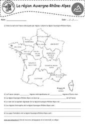 Auvergne - Rhône - Alpes - Je découvre ma région : 4eme, 5eme Primaire