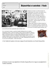Ecole - Aujourd'hui - Autrefois - Traces du passé - Exercices - Espace temps : 2eme Primaire