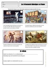 Histoire de france - Exercices - Espace temps : 2eme Primaire
