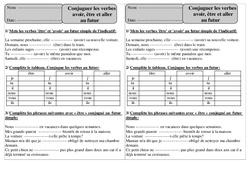 Futur - Etre, avoir, aller - Conjugaison - Exercices corrigés : 2eme Primaire
