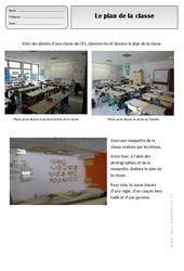Plan de la classe - Représenter l'espace - Exercices - Espace temps : 2eme Primaire