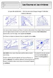 Fleuves et rivières - Paysages - Exercices - Espace temps : 2eme Primaire