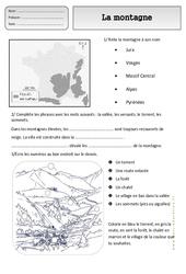 Montagne - Paysages - Exercices - Espace temps : 2eme Primaire