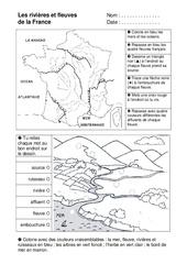 Rivières et fleuves - Exercices - Espace temps : 2eme Primaire