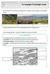 Campagne - Paysages ruraux - Exercices - Espace temps : 2eme Primaire