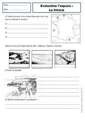 Littoral - Examen Evaluation - Espace temps : 2eme Primaire