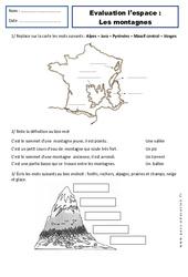 Montagnes - Paysages - Examen Evaluation - Espace temps : 2eme Primaire