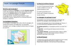 Paysages français - Cours, Leçon : 2eme Primaire