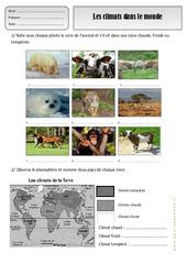 Climats dans le monde - Exercices - Espace temps : 2eme Primaire
